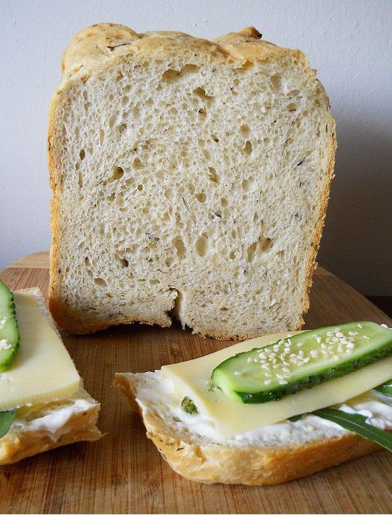 Balta duona su krapais - bulviukose.lt