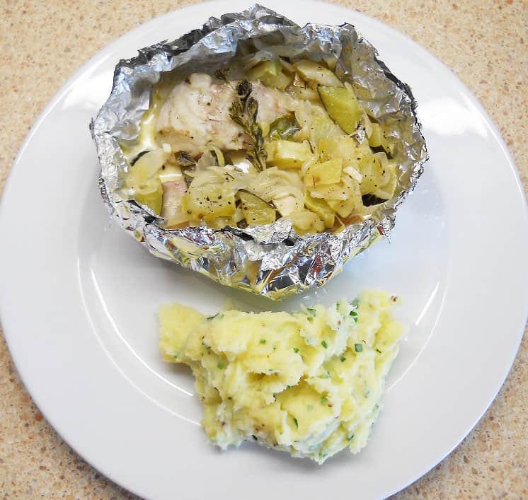 Šamas folijoje cukinijos ir grietinėlės padaže - bulviukose.lt