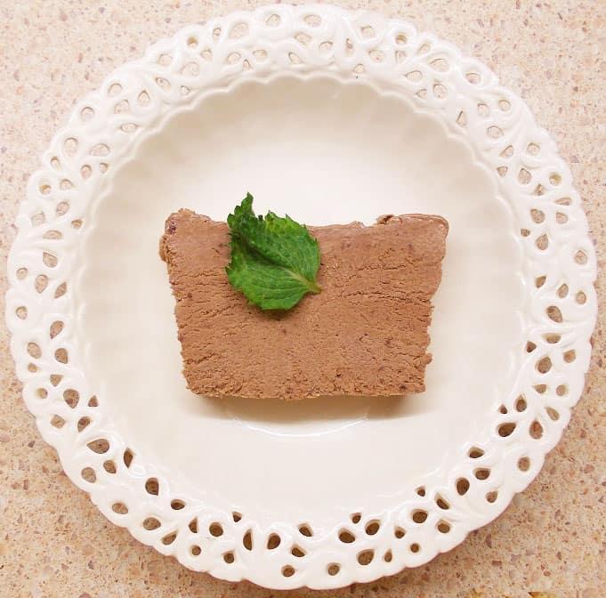 Šokoladiniai ledai - Semifreddo al cioccolato - bulviukose.lt