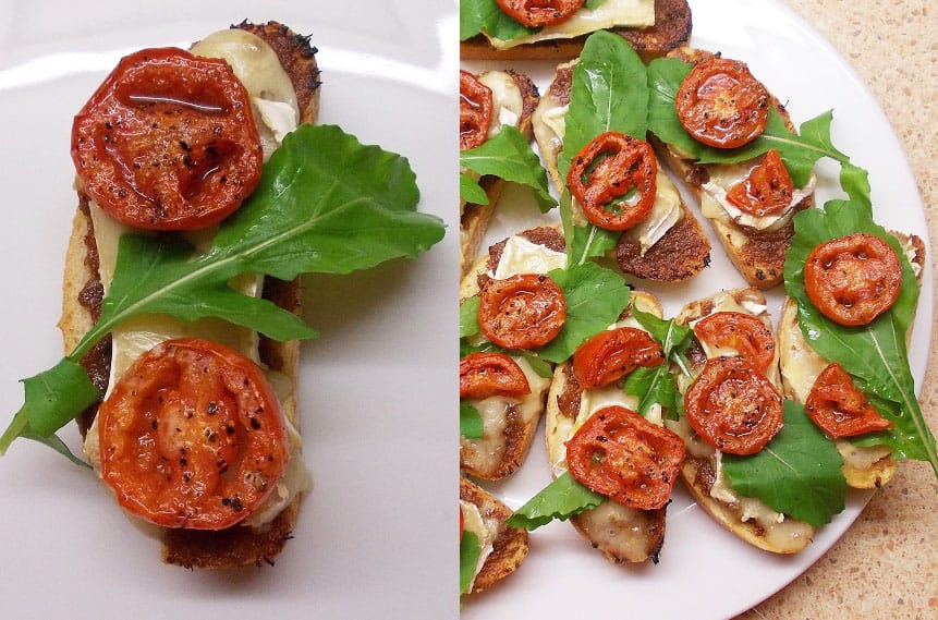 Karšti sumuštiniai su šoninės džemu ir Brie sūriu - bulviukose.lt