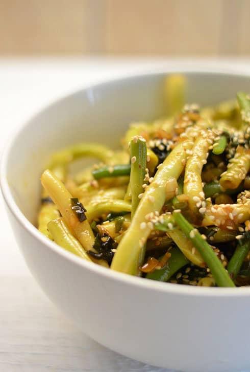 Šparaginės pupelės kiniškai. Neina atsivalgyti - bulviukose.lt