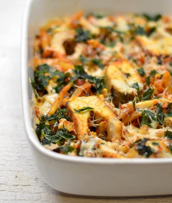 Lydekos ir daržovių užkepėlė su sūriu - bulviukose.lt