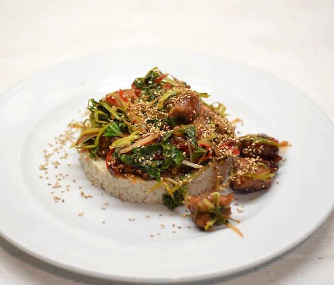 """Antiena su """"Teriyaki"""" padažu ir daržovėmis - bulviukose.lt"""