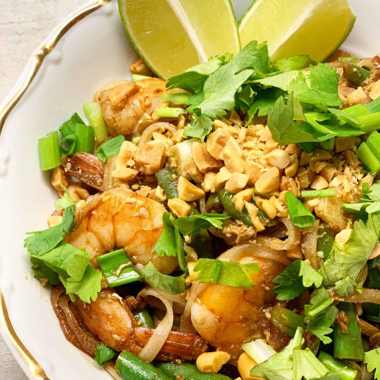 Tailandietiškas Pad Thai su krevetėmis - bulviukose.lt
