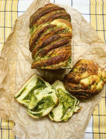 Duona su pesto padažu - bulviukose.lt