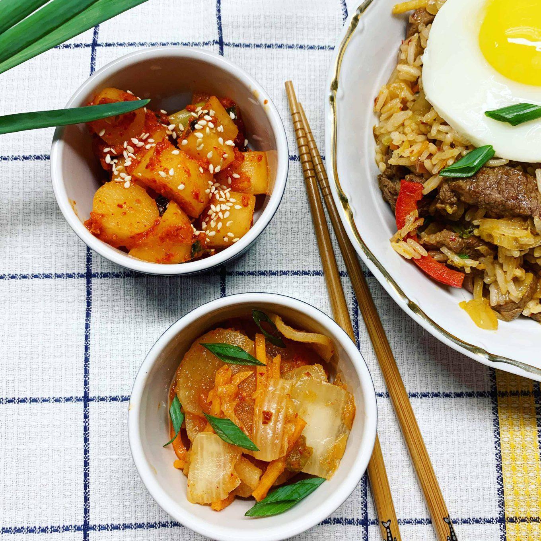 Jautiena su kimchi korėjietiškai