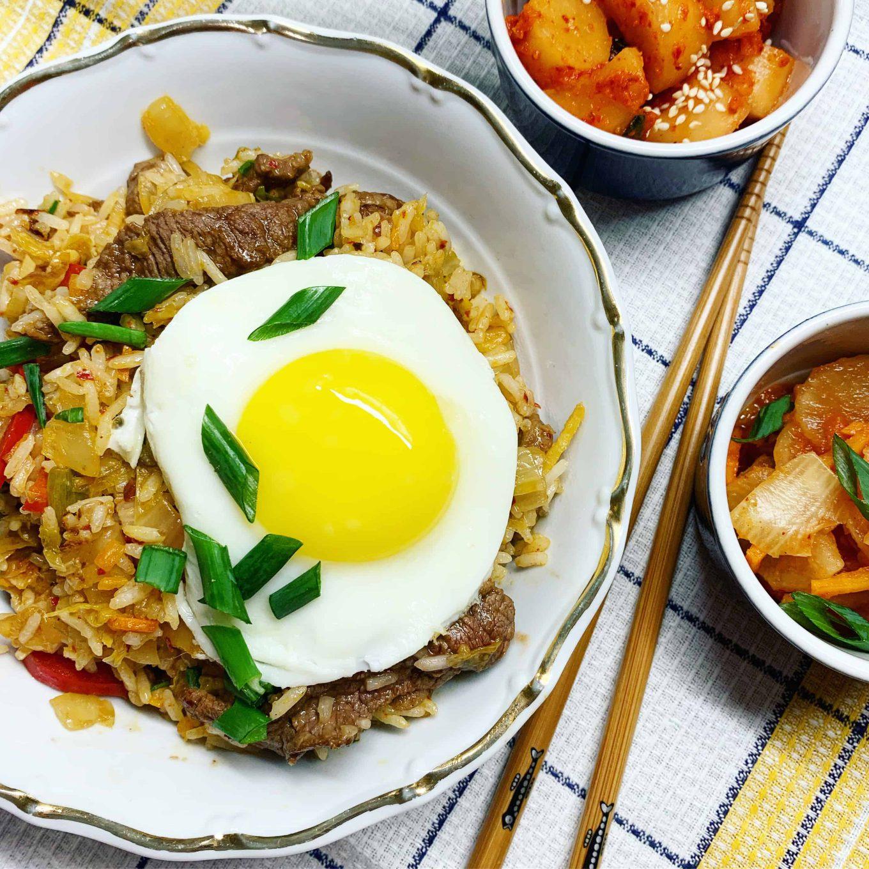 Jautiena su kimchi