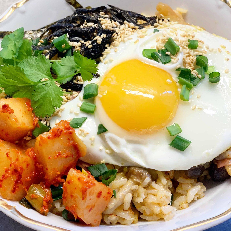 Ryžiai su šonine ir kimči - bulviukose.lt