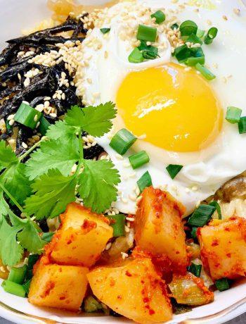 Ryžiai su kinietiškais grybais, kimchi - bulviukose.lt