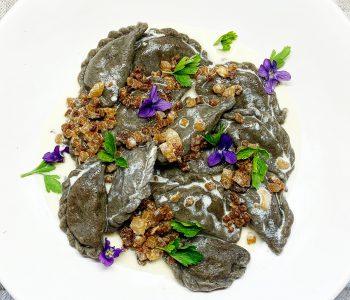 Virtinių tešla su džiovintais grybais