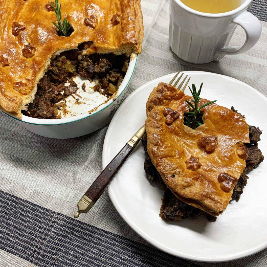 Mėsos pyragas su jautienos kulnine ir inkstais