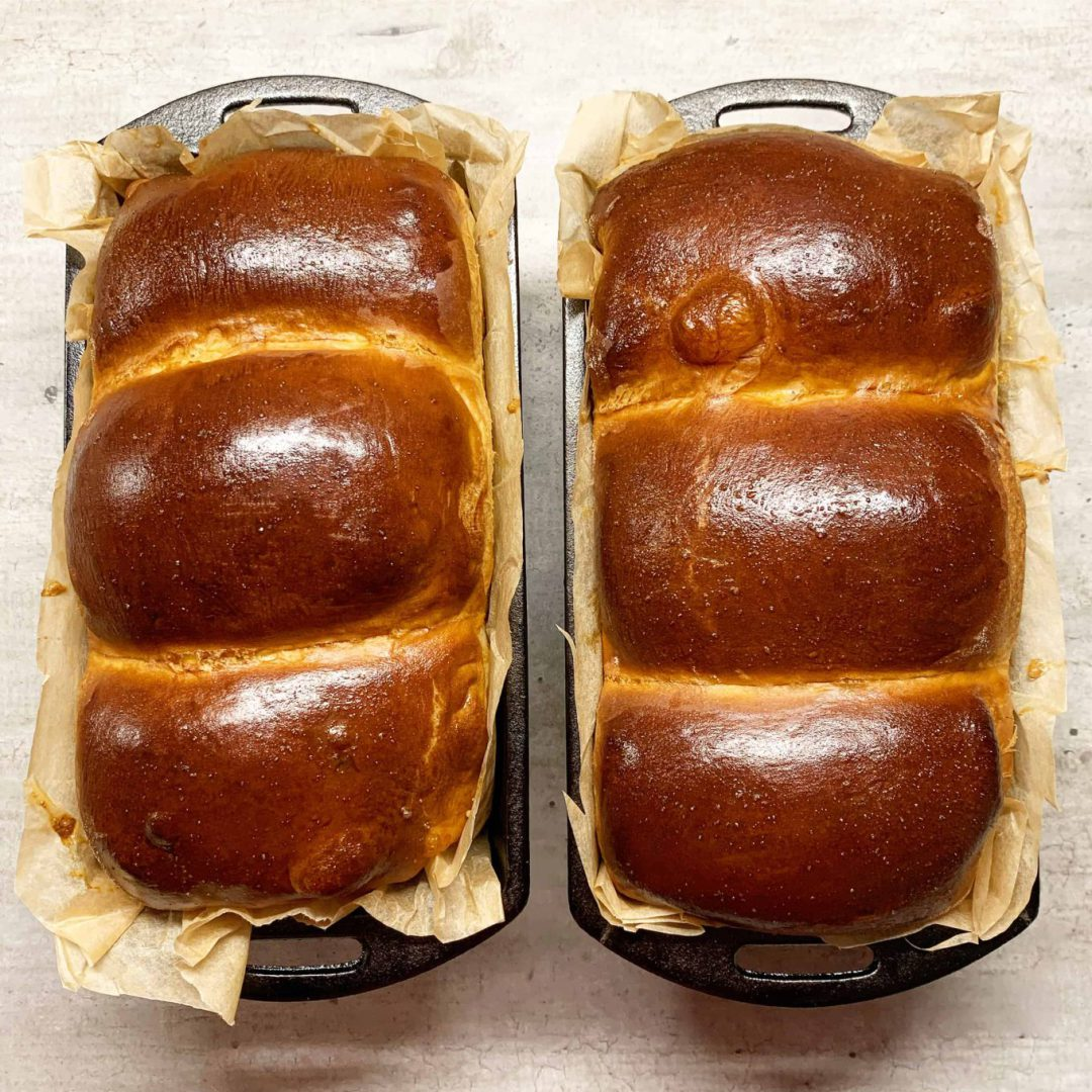 Pieniška Hokkaido duona su Tangzhong